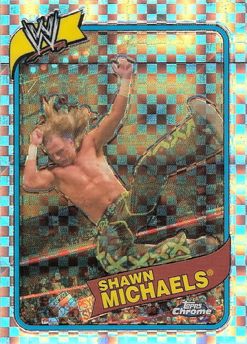 2008 Topps WWE Heritage Chrome #54 Shawn Michaels Rookie Wrestling Card Verzamelingen